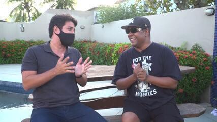 Márcio Victor, vocalista da banda Psirico, fala do lançamento do clipe 'Barril Dobrado'