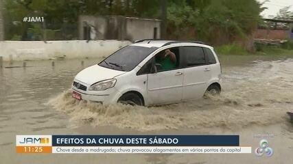 Chuva causa transtornos em diversas zonas de Manaus