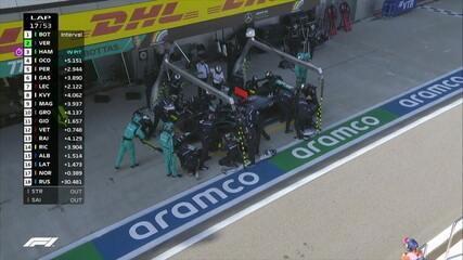 Hamilton faz pit stop e paga punição de 10 segundos no GP da Rússia