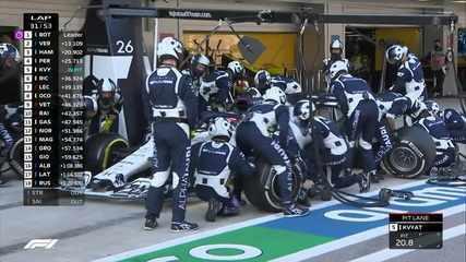 Kvyat para nos boxes, e Hamilton assume a terceira posição n GP da Rússia