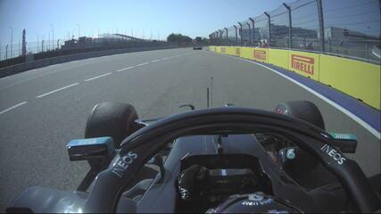 O vídeo com os treinos de largada irregulares de Lewis Hamilton no GP da Rússia