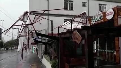 Chapecó registra ventos que chegaram a 92,16 km/h neste domingo (27)