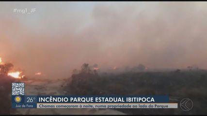 Incêndio atinge Parque Estadual de Ibitipoca