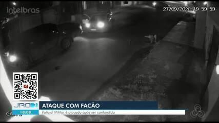 Policial é atacado com um facão em Porto Velho