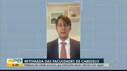 Prefeitura de Cabedelo anunciou retorno de aulas em faculdades privadas