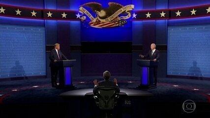 Donald Trump e Joe Biden trocam acusações em primeiro debate acalorado