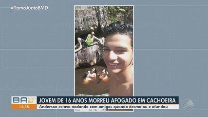 Jovem morre afogado em cachoeira na cidade de Jacobina, na região norte