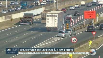 Acesso à Dom Pedro pela Anhanguera, em Campinas, é liberado