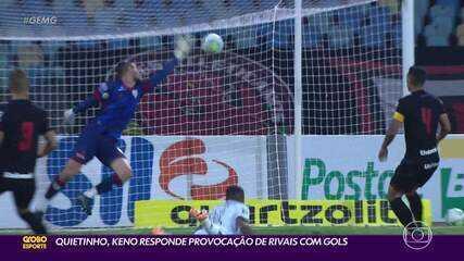 Tímido com o microfone, ousado com a bola: Keno responde rivais com gols
