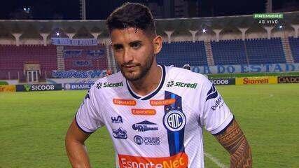 Bruno Paraíba fala sobre o gol e empate com o Brasil de Pelotas