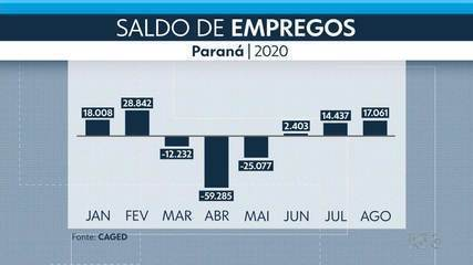 Mais de 17 mil vagas de trabalho foram abertas em agosto no Paraná