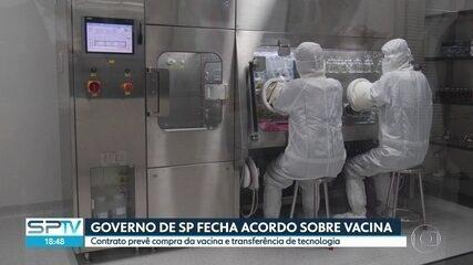 Governo de SP assina contrato para a compra de 46 milhões de doses da vacina chinesa