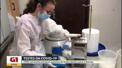 UFMG apresenta patentes de teste rápido da Covid-19