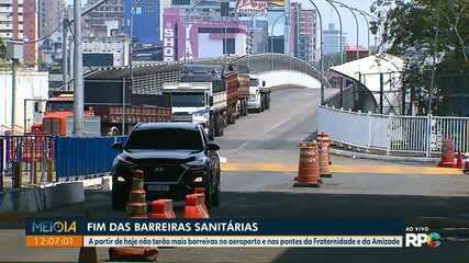 Prefeitura de Foz retira barreiras sanitárias nas duas pontes e no aeroporto