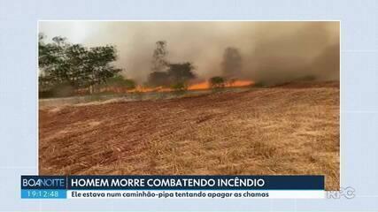Homem morre combatendo incêndio no norte do estado