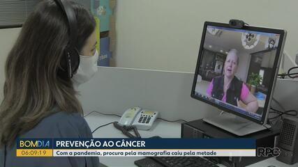 A procura por exames de mamografia caiu pela metade durane a pandemia