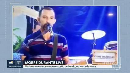 Músico morre durante transmissão de show ao vivo pela internet, no Norte de Minas