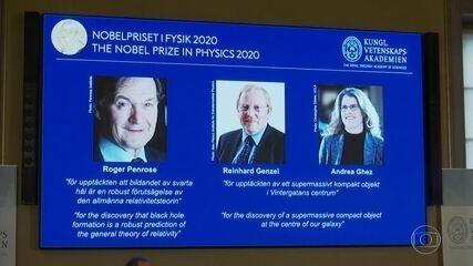 Nobel de Física vai para trio de cientistas por descobertas sobre buracos negros