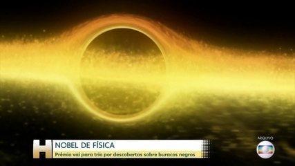 Nobel de física vai para três cientistas que fizeram descobertas sobre buracos negros