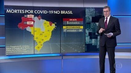 Brasil tem 798 mortes por Covid em 24 horas, aponta consórcio de imprensa