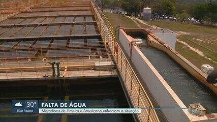 Moradores de Americana e Limeira reclamam de falta d'água em meio à onda de calor