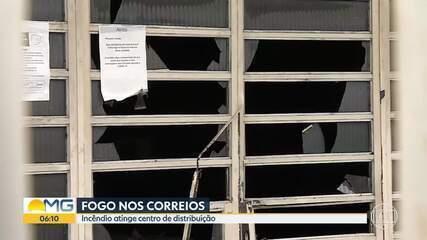 Incêndio atinge centro de distribuição dos Correios, em Belo Horizonte