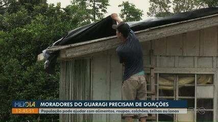 Após estragos por chuva, moradores de distrito de Ponta Grossa precisam de doações