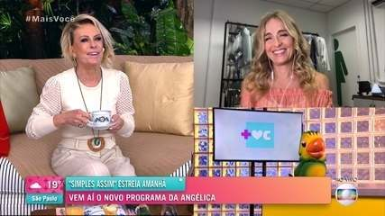 Angélica estreia programa 'Simples Assim' neste sábado