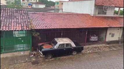 Moradores do Guará registram chuva no DF
