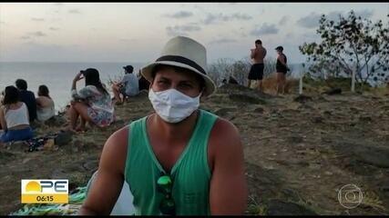 Turistas aproveitam feriado prolongado em Fernando de Noronha