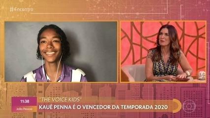 Vencedor do 'The Voice Kids', Kauê Penna fala de cisto nas cordas vocais