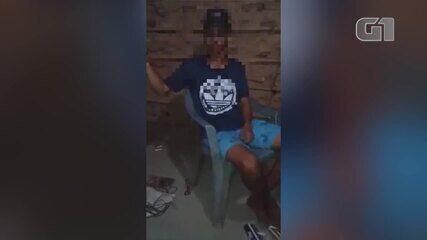 Vídeo mostra jovem desaparecido há uma semana sob ameaça