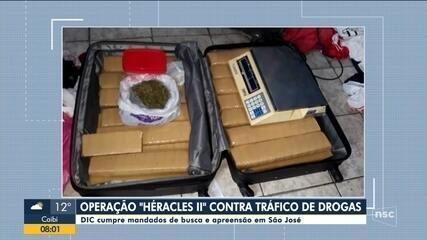 Polícia da Grande Florianópolis cumpre mandados em operação contra tráfico de drogas