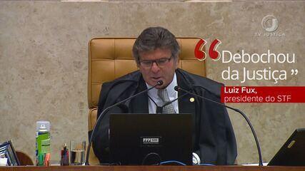 """Luiz Fux vota pela manutenção da ordem de prisão e diz que traficante """"debochou da Justiça"""""""
