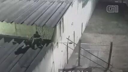 Imagens mostram momento em que detentos fogem do Complexo da Papuda, no DF