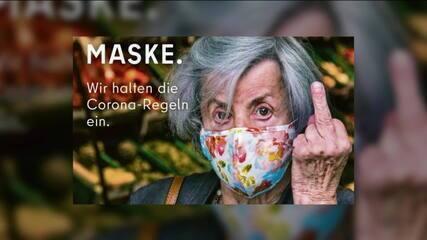 Campanha na Alemanha critica quem não usa máscara
