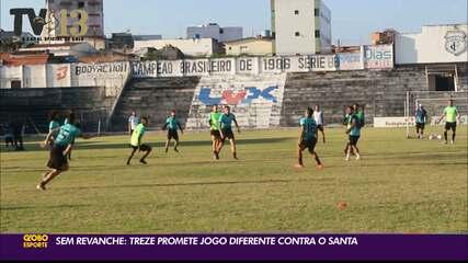Treze segue preparação para o duelo contra o Santa Cruz, pela rodada #11 da Série C