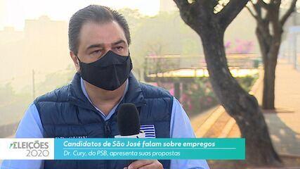 Candidato Dr. Cury (PSB) fala sobre empregos para cidade de São José