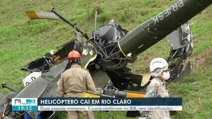 Helicóptero que caiu em Rio Claro não tinha permissão para voar, diz Anac