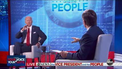 Trump and Biden compete for audience with simultaneous television events