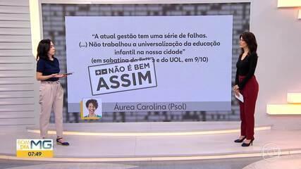 Fato ou Fake comenta, nesta sexta (16), declaração da candidata a prefeita Áurea Carolina