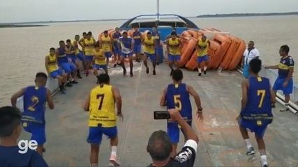 Em viagem de 36h, CDC/Novo Aripuanã treina no barco para estreia na Série B do Amazonas