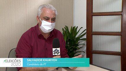 Candidato Salvador Khuriyeh (PT) fala sobre a saúde para cidade de Taubaté