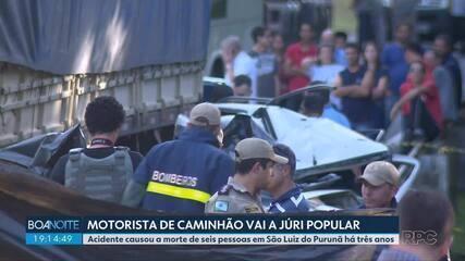 Vai a júri popular o motorista do caminhão envolvido no acidente em São Luiz do Purunã