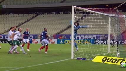 Melhores momentos de Fortaleza 2 x 0 Palmeiras, pela 17ª rodada do Brasileirão 2020