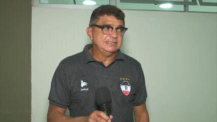 Flávio Araújo contesta pênalti anulado do River, mas aprova exibição contra o São Raimundo