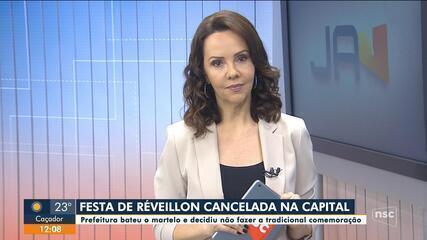 Festa de Réveillon é cancelada em Florianópolis