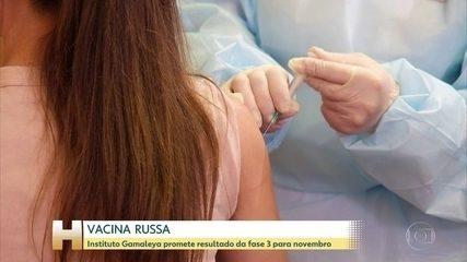Instituto Gamaleya promete resultados da vacina para novembro