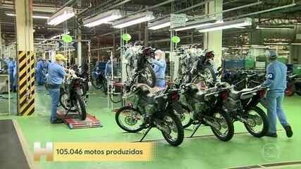 Em setembro, produção de motos foi a maior do ano