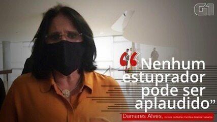 Damares pede 'cadeia imediatamente' para Robinho